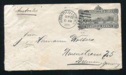 HAWAII GERMANY HAPAG STATIONERY MARITIME SHIPPING S.S. AUSTRALIA 1891 - United States