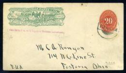 MEXICO 1898 WELLS FARGO ENVELOPE - EAGLE - Mexico