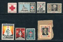 RED CROSS ANTI TUBERCULOSIS ITALY NORWAY JAMAICA PORTUGAL - Red Cross