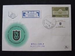 1956 TAB TECHNION INSTITUT UNIVERSITY HAIFA FIRST DAY ISSUE JOUR D'EMISSION AIR MAIL POST STAMP ENVELOPE ISRAEL JUDAICA - Israël