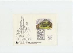 AUSTRIA WWF 1985 FDC Jahr Des Waldes.