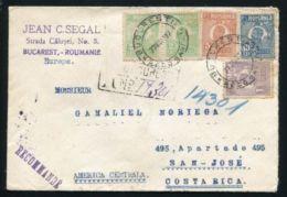 ROMANIA AMAZING REGISTERED COVER TO COSTA RICA 1927 - Romania