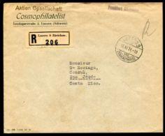SWITZERLAND 1931 WALTER TELL REGISTERED TO COSTA RICA - Switzerland