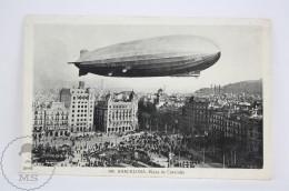 Old Airship Postcard - Barcelona, Cataluña Square Graf Zeppelin - Dirigibili