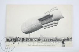 Old Aviation Postcard - M. Henri Deutsch Airship By M.E. Surcouf  - Ville De Paris  - Animated - Dirigibili