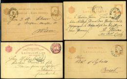 HUNGARY POSTAL STATIONERY CARDS TYPE 11 1880-1890's - Hungary