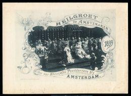 QUEEN WILHELMINA OF THE NETHERLANDS 1899 AMSTERDAM HEILGROET DE AMBTENAREN - Other Collections