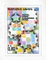 UNITED NATIONS ARTWORK 1980 INTERNATIONAL ECONOMIC ORDER - Stamps