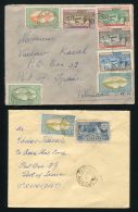 GUADELOUPE TO TRINIDAD 1937 AND 1938 COVERS - Europe (Other)
