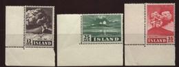 ICELAND 1947 HEKLA SET MNH - Iceland
