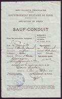 RARE TRAVEL DOCUMENTS COUTTS BANKER GREENFIELD PARIS DUCHESS DE CHATRES 1922 - Unclassified