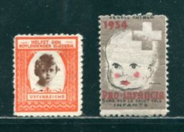 AUSTRIA FRANCE CHILDREN 1920/1934 CHARITY - Austria