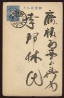 SOUTH KOREA BLUE POSTAL STATIONERY - Korea (...-1945)