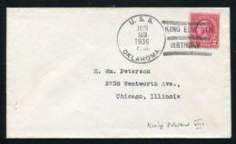 UNITED STATES NAVY OKLAHOMA GB KING EDWARD 8TH BIRTHDAY - Postal History