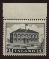 ICELAND 1952 PARLIAMENT 25kr MNH! - Iceland