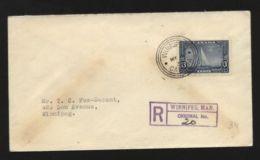CANADA YACHTING FDC BRITANNIA, WINNIPEG 1935 - Commemorative Covers