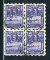 SIERRA LEONE KING GEORGE 5TH BLOCK WITH TRAVELLING POST OFFICE CANCEL - Sierra Leone (...-1960)