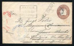 COSTA RICA TO BELGIUM LA REID 1906 STATIONERY - Costa Rica