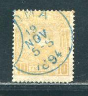 BELGIAN CONGO 10 FRANC 1891 FINE USED - Belgium