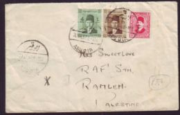 EGYPT/RAMLEH, PALESTINE 1937 COVER - Palestine