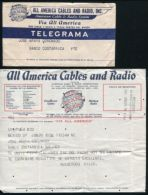 TELEGRAM ALL AMERICA CABLES MEXICO TO COSTA RICA - Mexico