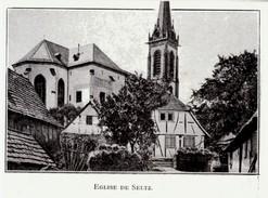 1919 - Iconographie Documentaire - Seltz (Bas-Rhin) - L'église -  FRANCO DE PORT - Vieux Papiers