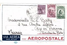 BRASIL. COVER VIA AEREA POR AEROPOSTALE  RIO DE JANEIRO TO FRANCE / 7895 - Brasilien