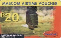 Botswana, Mascom Airtime Recharge P 20 Voucher, Fish Eagle, Plastic Card - Botswana