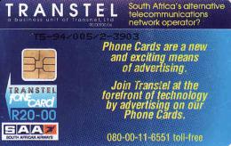 Afrique Du Sud,SOUTH AFRICA,Transtel Test Card R20,SAA-South African Airwaysm, Coins-Proof Kruger Set - Afrique Du Sud