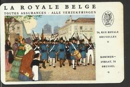ZAKKALENDER CALENDRIER 1962 LA ROYALE BELGE BRUXELLES BRUSSEL ( SOLDATS BIJENKORF ANKER RUCHE BEEHIVE ANCHOR ARMÉE ) - Petit Format : 1961-70