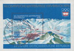 Oost-Duitsland - Olympische Winterspiele 1976, Innsbruck - Gebruikt/gebraucht-used - M Blok 43 - Winter 1976: Innsbruck