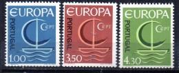 PIA  - PORTOG  - 1966  : Europa -  (Yv  993-95) - Europa-CEPT