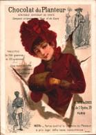 CHROMO  - Chocolat Du PLANTEUR - Femme Avec Manchon - 19 Avenue De L'Opéra Paris  R/V - Chocolate