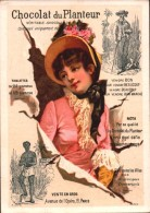 CHROMO  - Chocolat Du PLANTEUR - Femme Avec Robe Rose - 19 Avenue De L´Opéra Paris  R/V - Chocolate