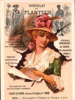 CHROMO  - Chocolat Du PLANTEUR - Femme Avec Robe Verte - 19 Avenue De L´Opéra Paris  R/V - Chocolate