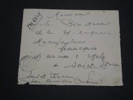 FRANCE / SÉNÉGAL - Enveloppe De Dakar Pour St Etienne En 1941 , Affranchissement Plaisant Au Verso - A Voir - L 4734 - Sénégal (1887-1944)
