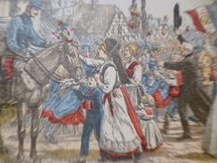 CPA Militaria Militaire Entrée Des Français En Alsace Lorraine Illustrée Par Besnier - Patrióticos