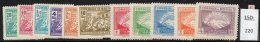 Bolivia 1947 Revolution Set/11 ( Mount Illimani Etc. ) SG 456-466. MH - Bolivia