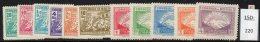 Bolivia 1947 Revolution Set/11 ( Mount Illimani Etc. ) SG 456-466. MH