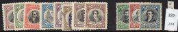 Bolivia 1909 (Dec)/1910  Centenary Sets, SG 115-22 And 123-25 MH (one Stamp Used) - Bolivia