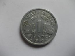MONNAIE - 1 FRANCS FRANCISQUE LÉGERE 1943 - H. 1 Franc