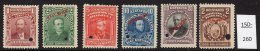 Bolivia  1901-04 Set/6 (SG 100-05 Variety) With Small Style SPECIMEN Overprint (and Punch). MNH – See Text.
