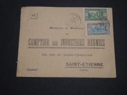 FRANCE / SÉNÉGAL - Enveloppe De Thies Pour St Etienne En 1935 , Affranchissement  Plaisant - A Voir - L 4747 - Sénégal (1887-1944)