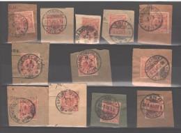 D.Reich 1889 Freimarken Nr.47 Mit Verschiedene Stempeln 12 Briefstuecke - Deutschland