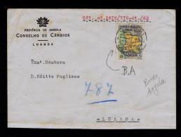 Luanda PERFIN B.A. / ( Angola Bank ) Cover 1962 Maps Géographie Portugal Sp4289 - Geografía