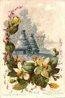 Chromos - Drôme - Chocolaterie D Aiguebelle - Paysage Avec Fleur - Fleur D' Oranger  -  R/V - Aiguebelle