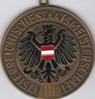 4104z: Medaille Aus Österreich, Staatsmeisterschaft Unterwasserrugby, Ca. 1970 - Oesterreich