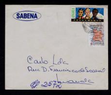 Luanda ANGOLA Publicitary Cover 1963 Maps Géographie + Additional POVOAMENTO Portugal SABENA Fly Compª Belgique Sp4292 - Geografía