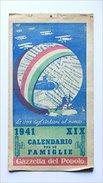 Calendario Per Le Famiglie 1941 - Gazzetta Del Popolo. - Calendari
