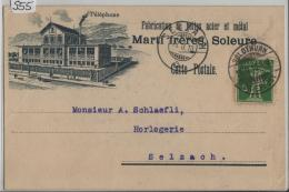 1910 Tellknabe 119/113I Stempel: Solothurn Nach Selzach - Marti Freres Fabrication De Boites Acier Et Metal - SO Soleure